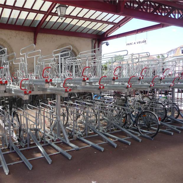 Racks vélos double niveau