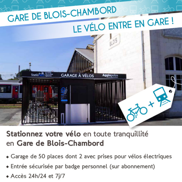 la gare de blois s 39 quipe d 39 un abri v los ferm altao spacio altinnova. Black Bedroom Furniture Sets. Home Design Ideas