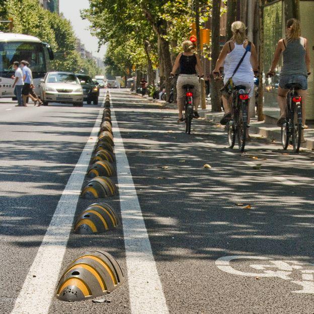 Zebra séparateur pistes cyclables carré