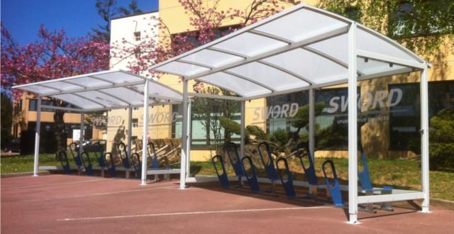 Abri vélos ouvert ALTAO Curve - SWORD