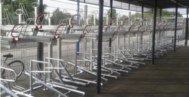 Racks vélos à 2 niveaux Optima - SNCF ALSACE