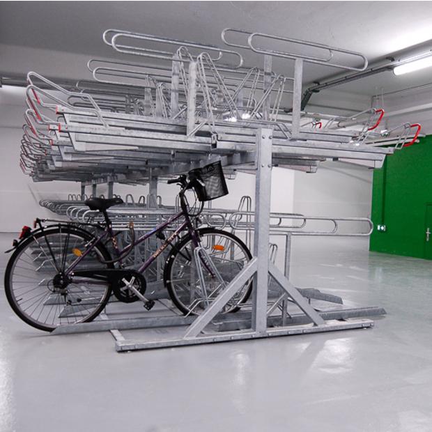 Stationnement vélos double niveau