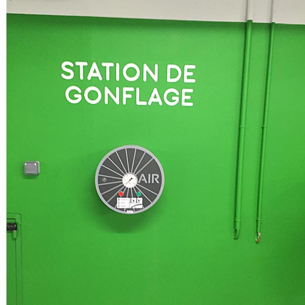 Station de gonflage vélos