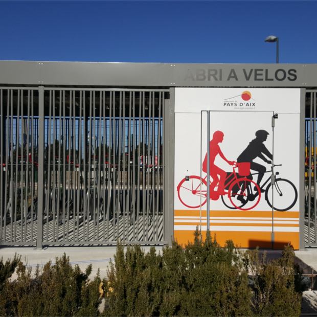 Abri vélos sécurisé