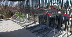 Stationnement vélos double niveau OPTIMA à Simiane Pays d'Aix