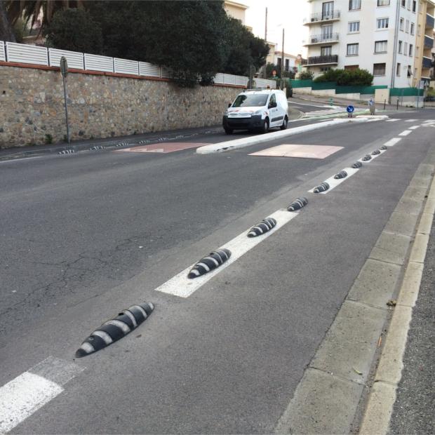 Séparateurs de pistes cyclables ZEBRA