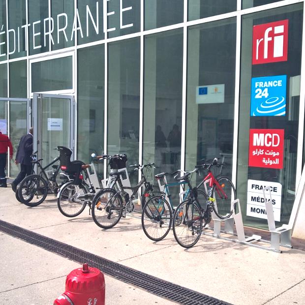 arceaux stationnement vélos