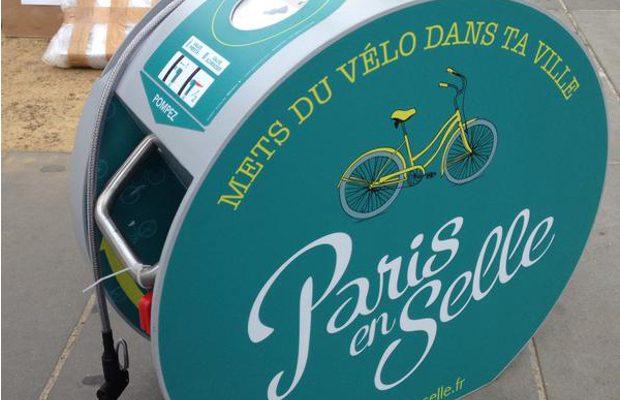 Station de gonflage vélo