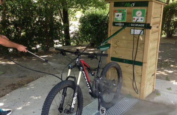 Station de lavage et gonflage vtt