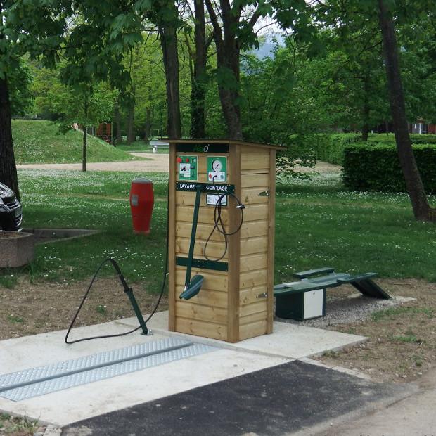 Station de lavage et gonflage vélos