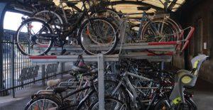 stationnement vélo double étage
