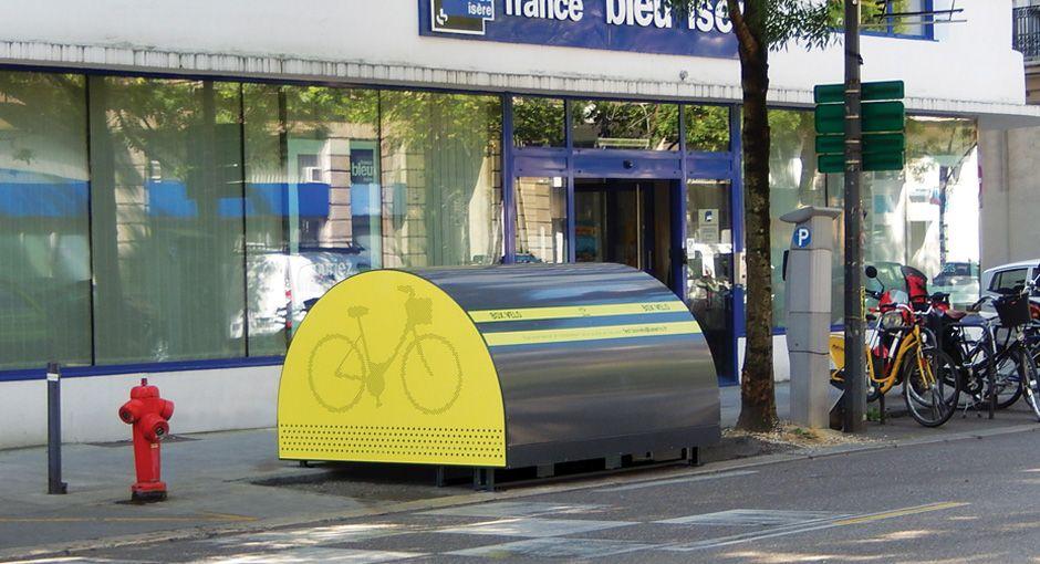 abri vélos sécurisé installé à Grenoble