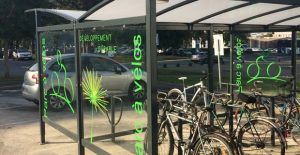 parking à vélos à l'université de poitiers