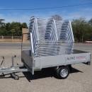 racks vélos pour stationnement temporaire et leur remorque