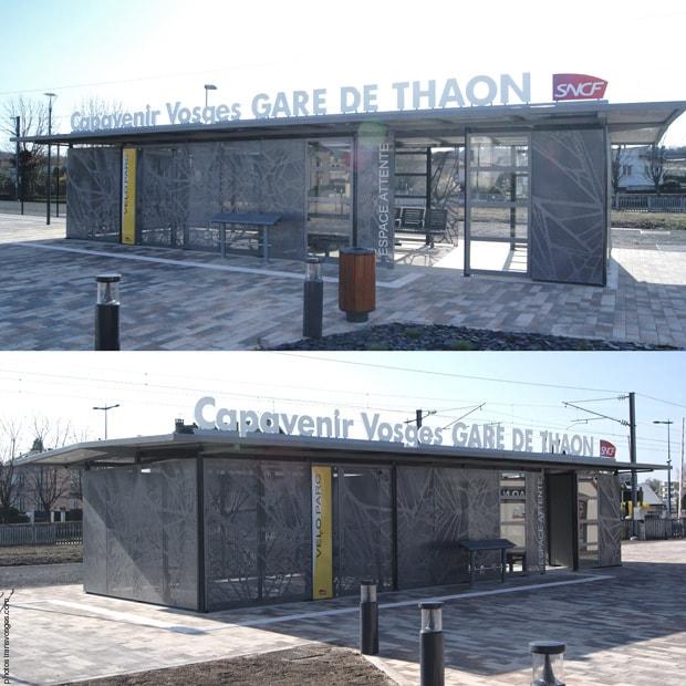abri vélos et voyageurs en gare capavenir