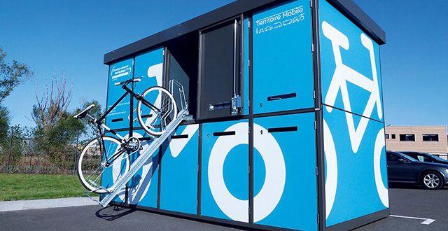Consigne à vélos double étage