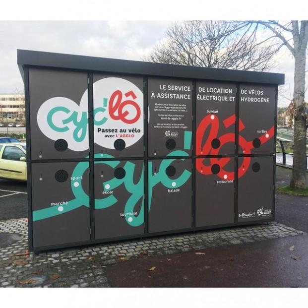 Abri vélos sécurisé ALTAO Duplex installé à Saint Lô