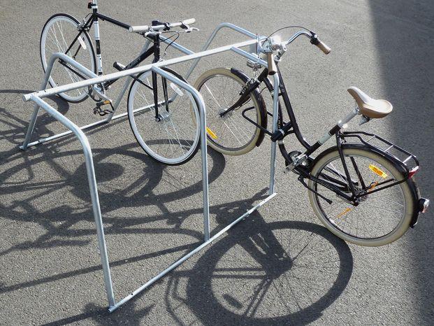 rack de stationnement vélo éphémère pour réaliser des aménagements cyclables temporaires pour le déconfinement