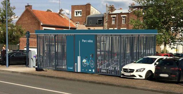 simulation d'implantation d'un abri vélos à Arras
