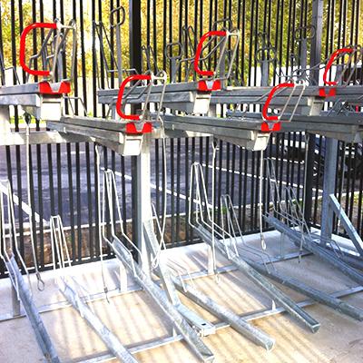 Stationnements vélos double-étage Optima v7