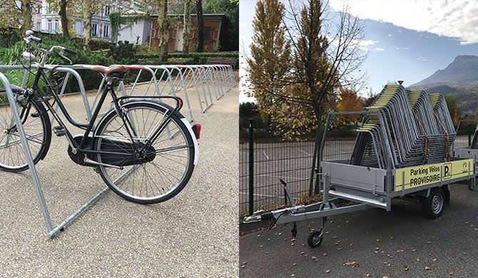 rack de stationnement vélo temporaire ALTAO Mobile