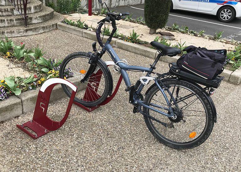 stationnement vélo sur borne ALTAO Voile