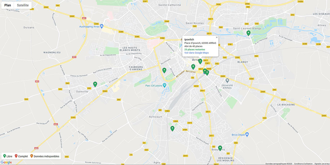 Nouveaux abris vélos sécurisés et connectés à Arras