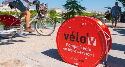 pompe à vélo en libre service à Lyon