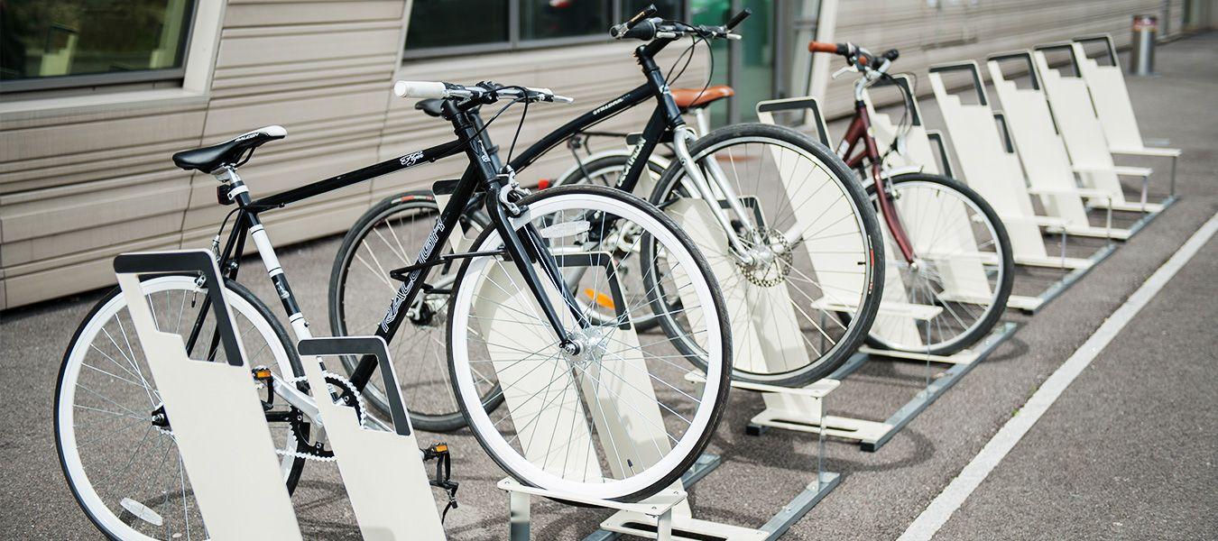 racks de stationnement vélo ALTAO Parco installés à Lyon