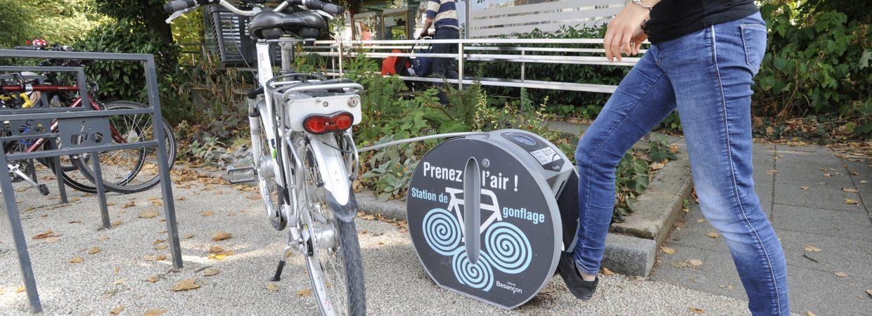 station de gonflage vélo de Besançon ALTAO Pump Altinnova