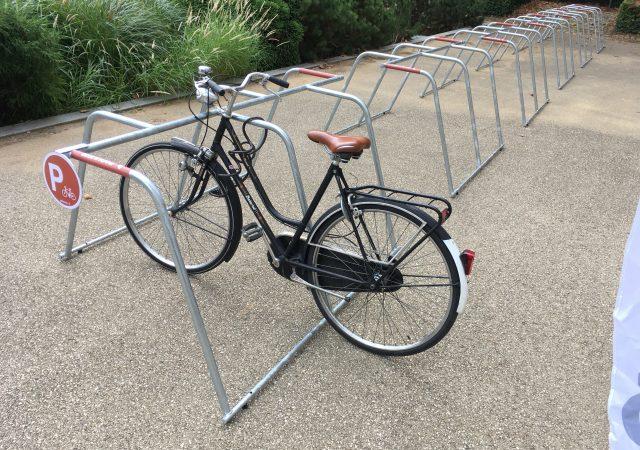parking vélo éphémère ALTAO Mobile aux Journées Européennes du Patrimoine