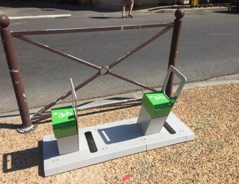 bornes de recharge pour vélos électriques installées à Montignac