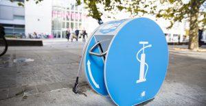 pompe à vélo en libre service de l'Université de Genève