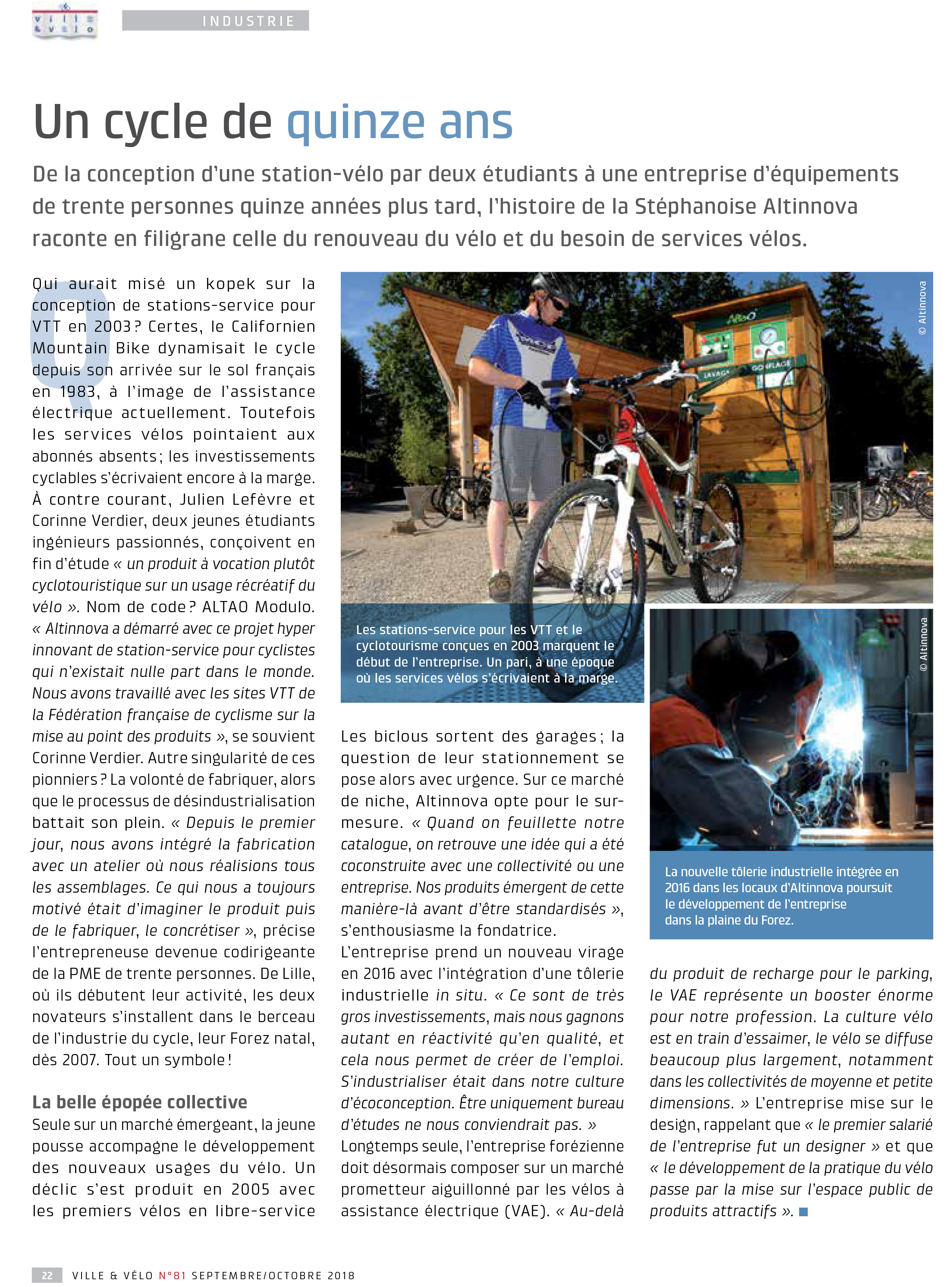 Article sur Altinnova