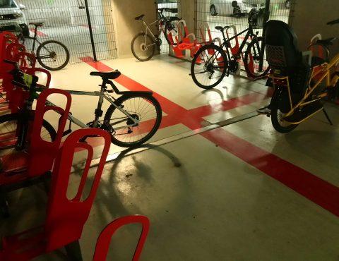 parking à vélos en entreprise