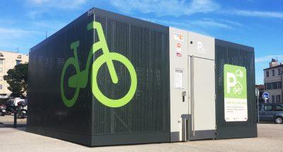 abri vélo Cigogne ALTINNOVA gare de Marseille Saint Charles