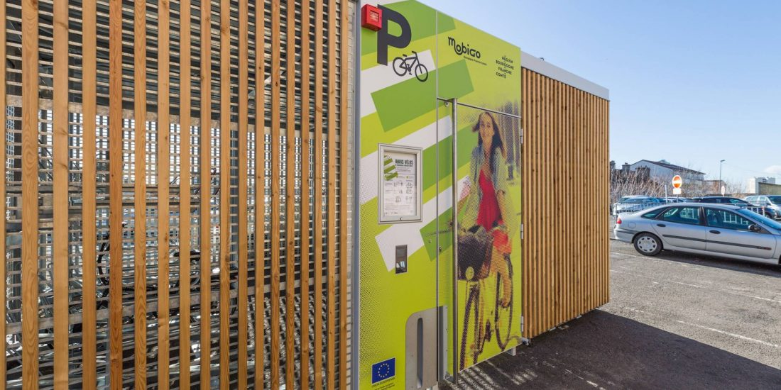 abris vélos solaires Abri Cigogne de la gare de Mâcon