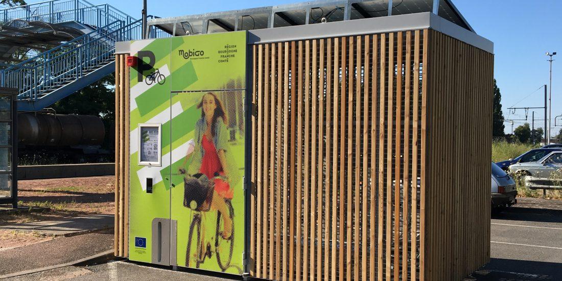 abris vélos solaires Abri Cigogne de la gare de Seurre