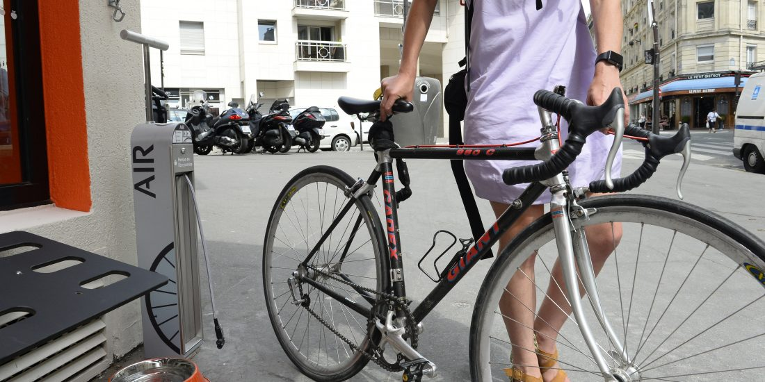 gonfleur vélo en libre-service ALTAO T'Pump