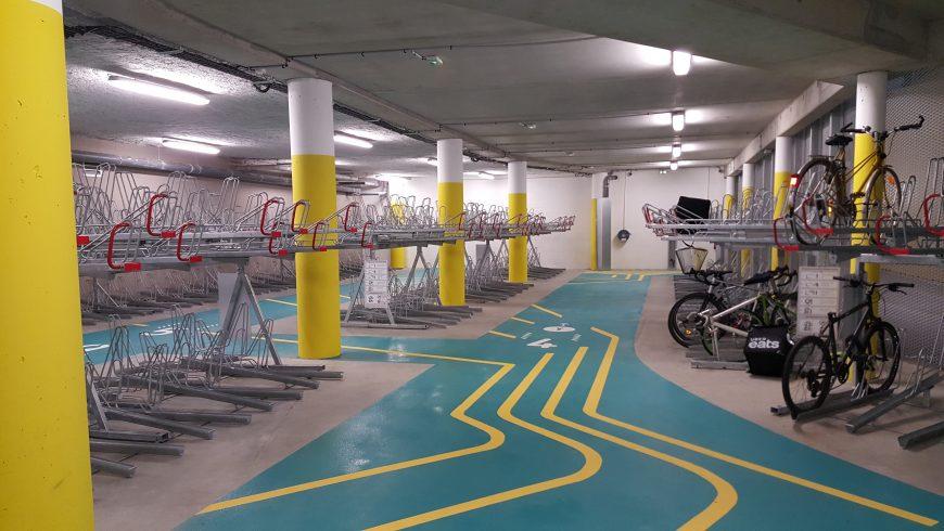 Nouvel espace vélo équipé et sécurisé pour la gare Lille Flandres