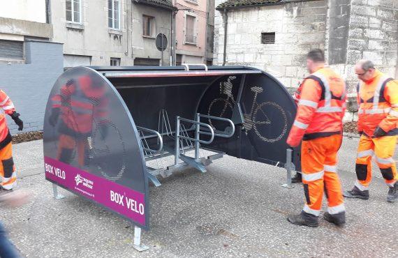 Nouveaux box vélo sécurisés d'Altinnova à Bourg en Bresse