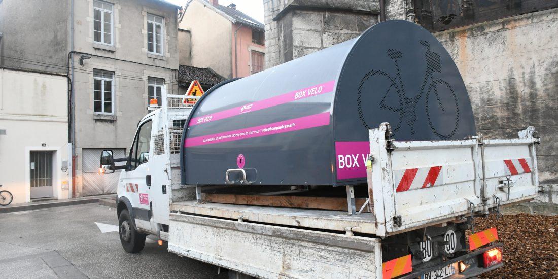 Nouveaux box vélo sécurisés transportés et installés