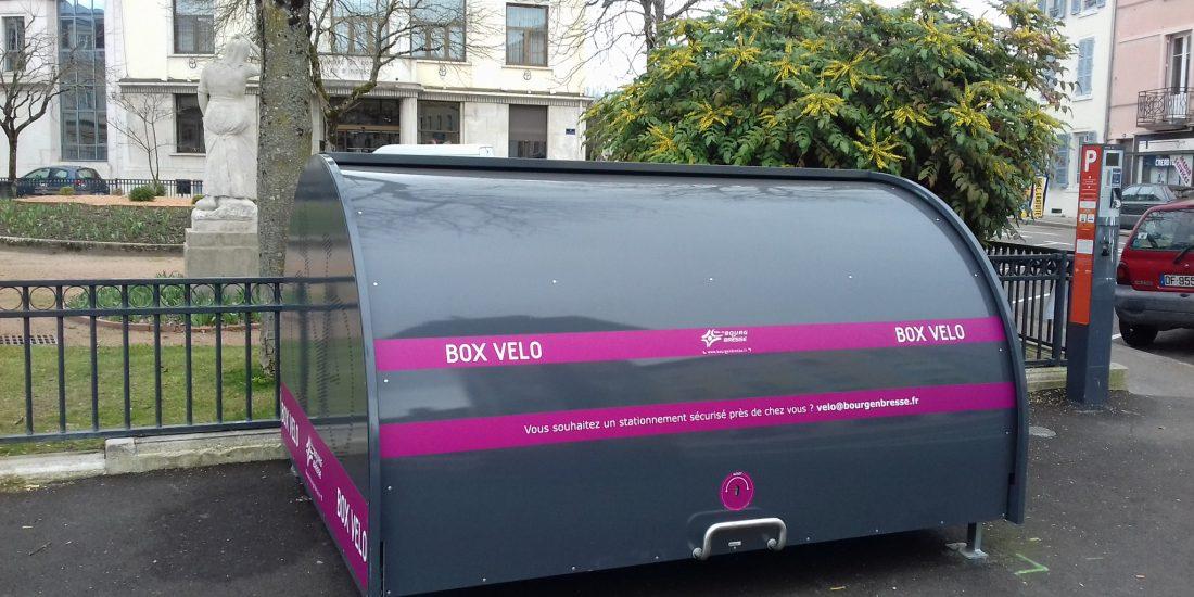 Nouveau box vélo sécurisé installé à Bourg en Bresse