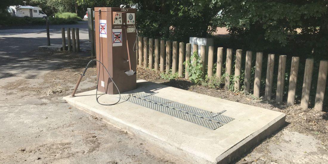 Station de lavage et gonflage vélo LTAO Modulo du Parc d'Olhain