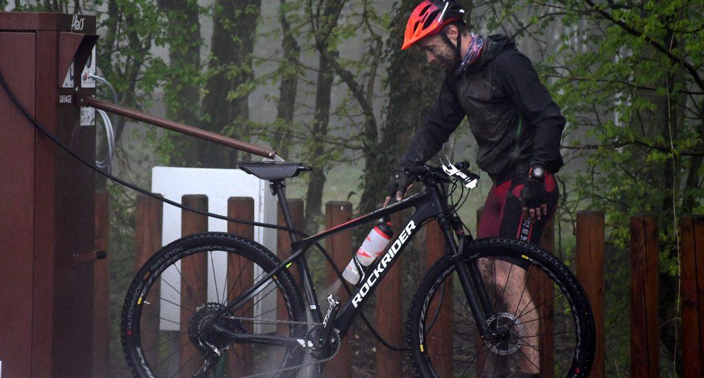 station de services pour vélos du Parc D'Olhain
