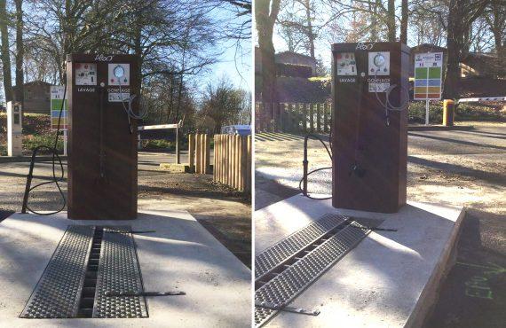 nouvelle station de services pour v los au parc d 39 olhain altinnova. Black Bedroom Furniture Sets. Home Design Ideas