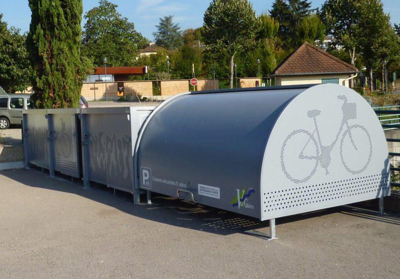les nouveaux box à vélos de Val Guiers