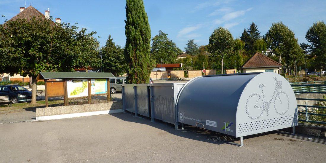 les nouveaux box à vélos installés à Val Guiers