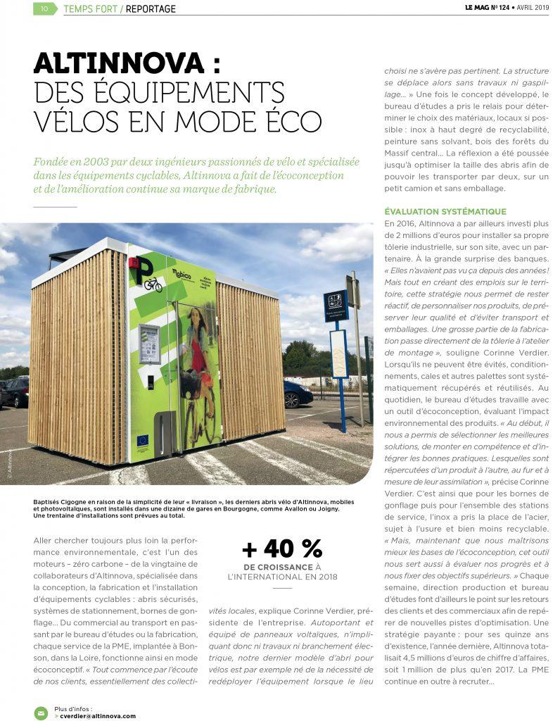 article : des équipements vélos en mode éco