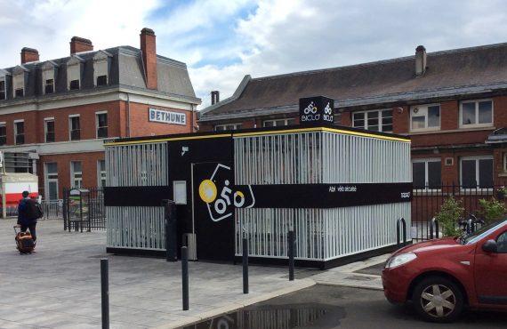nouvel abri vélo sécurisé à la gare de Béthune